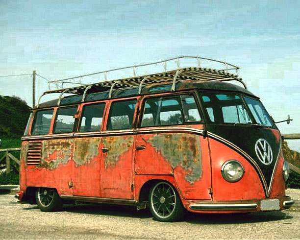 Rusty bus wallpaper vw bus wagon for 1963 vw samba t1 21 window split screen campervan