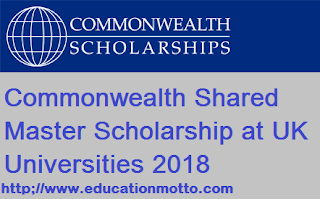 Commonwealth Shared Master Scholarship UK 2018, Eligibility Criteria, Application Deadline, Method of Applying, Online Application,