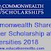 Commonwealth Shared Master Scholarship at UK Universities 2018