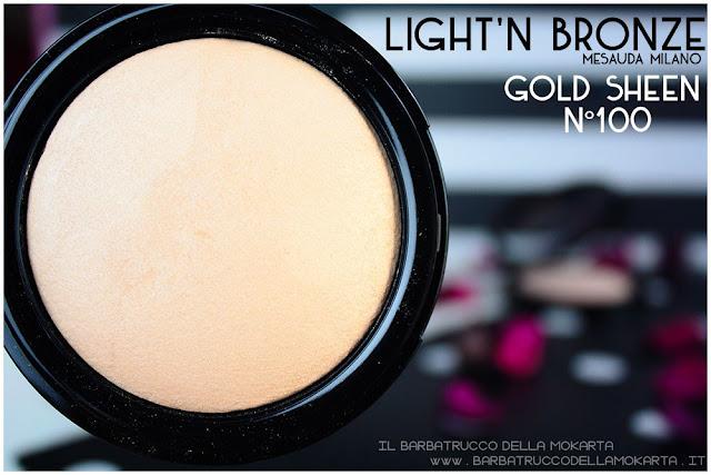 gold sheen 100 light'n bronze illuminante higlighter mesauda