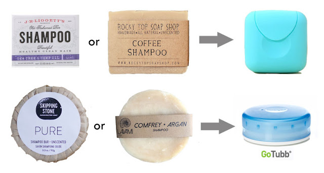 travel shampoo bars