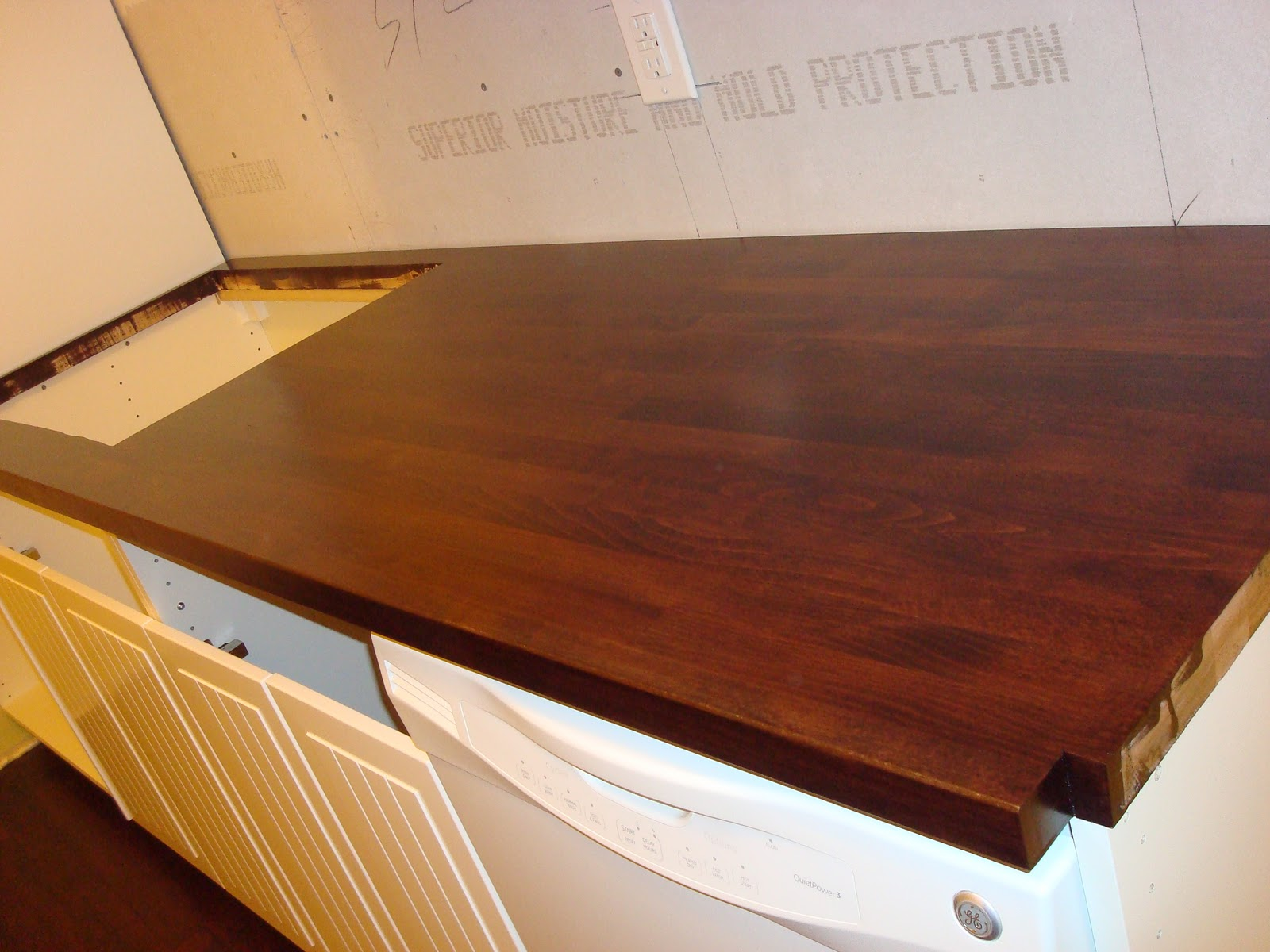 Best Finish For Butcher Block Countertop: 1800's House Renovations: Finishing The Butcher Block