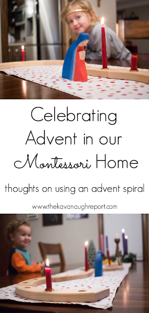 Using an Advent spiral with children in our Montessori home