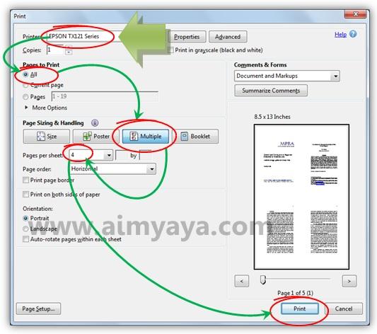 Cara Mencetak Beberapa Halaman File Pdf Dalam 1 Kertas Cara Aimyaya Cara Semua Cara