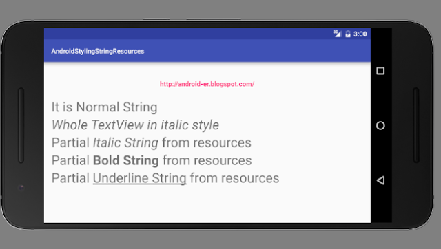 Create Styling String From Resources