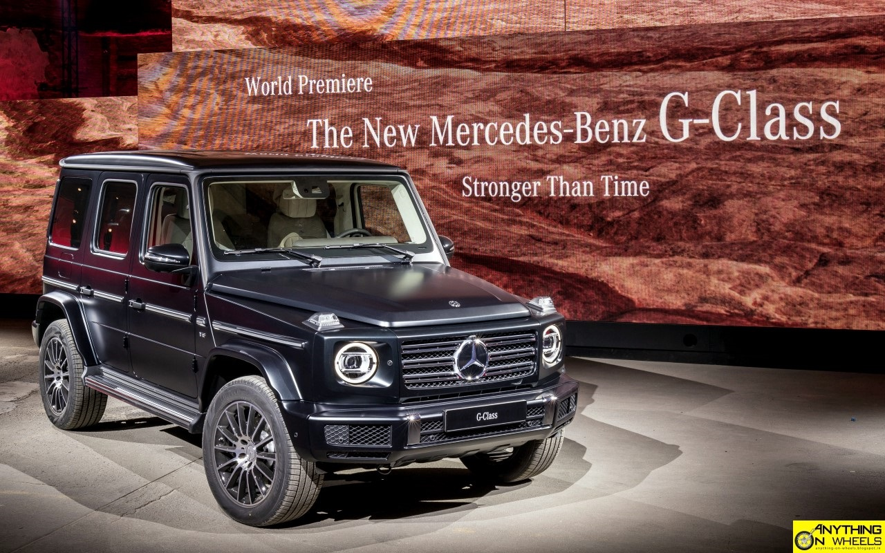 anything on wheels 2018 detroit mercedes benz unveils the all new g class. Black Bedroom Furniture Sets. Home Design Ideas