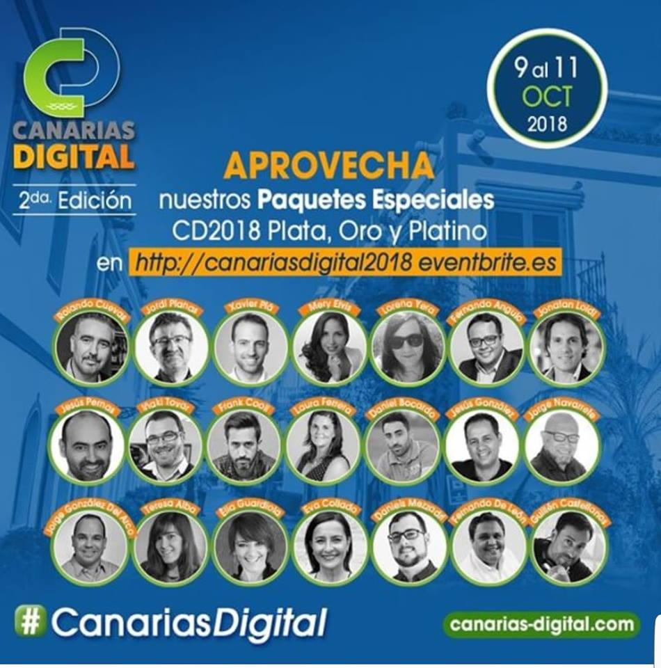Llega la 2ª Edición de Canarias Digital - Conoce todas las tendencias del Marketing Digital