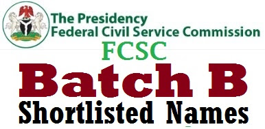 Batch B: Full list of names of FCSC