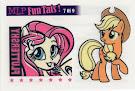 MLP Tattoo Card 7 Equestrian Friends Trading Card