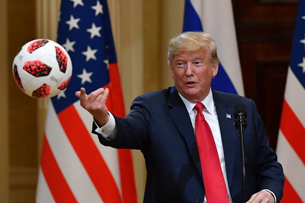 Putin Presents Trump With FIFA World Cup  football Made In Pakistan