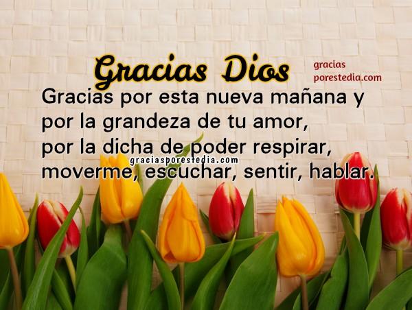Bonito mensaje cristiano para la mañana con imagenes de gracias a Dios por este día, frases de oración y acción de gracias por Mery Bracho