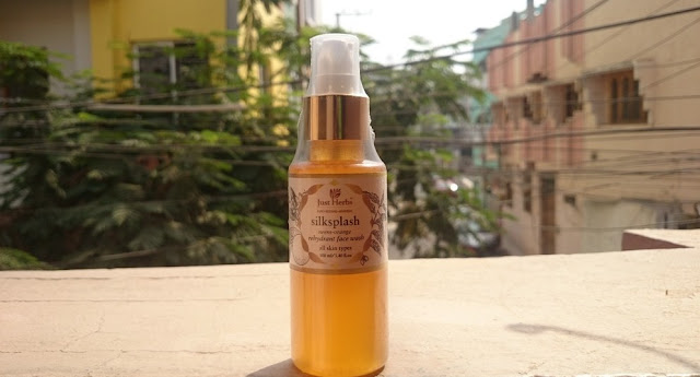 just herbs silksplash rehydrant face wash, ayurvedic, acne-prone, pimples, skin, tan, india, affordable