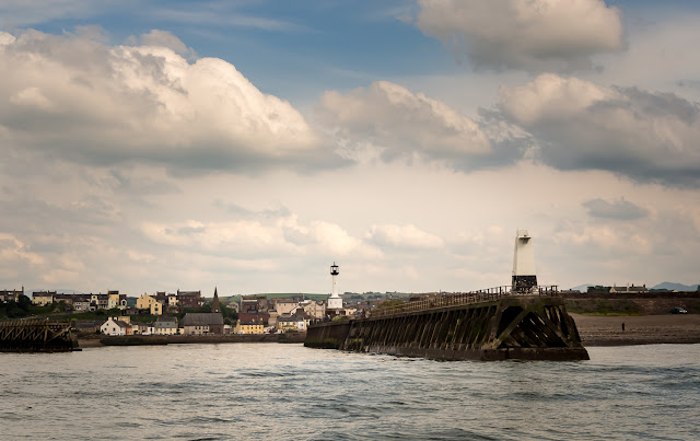 Photo of Maryport from the sea