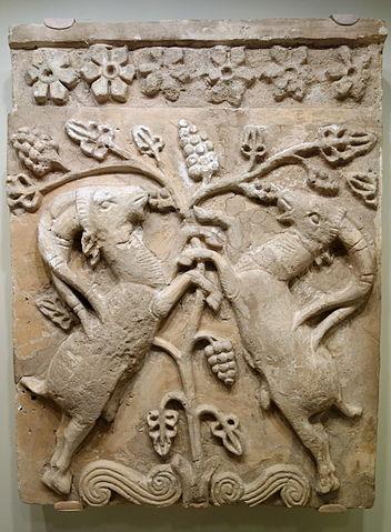 pohon kehidupan ibexes, simbolis pohon