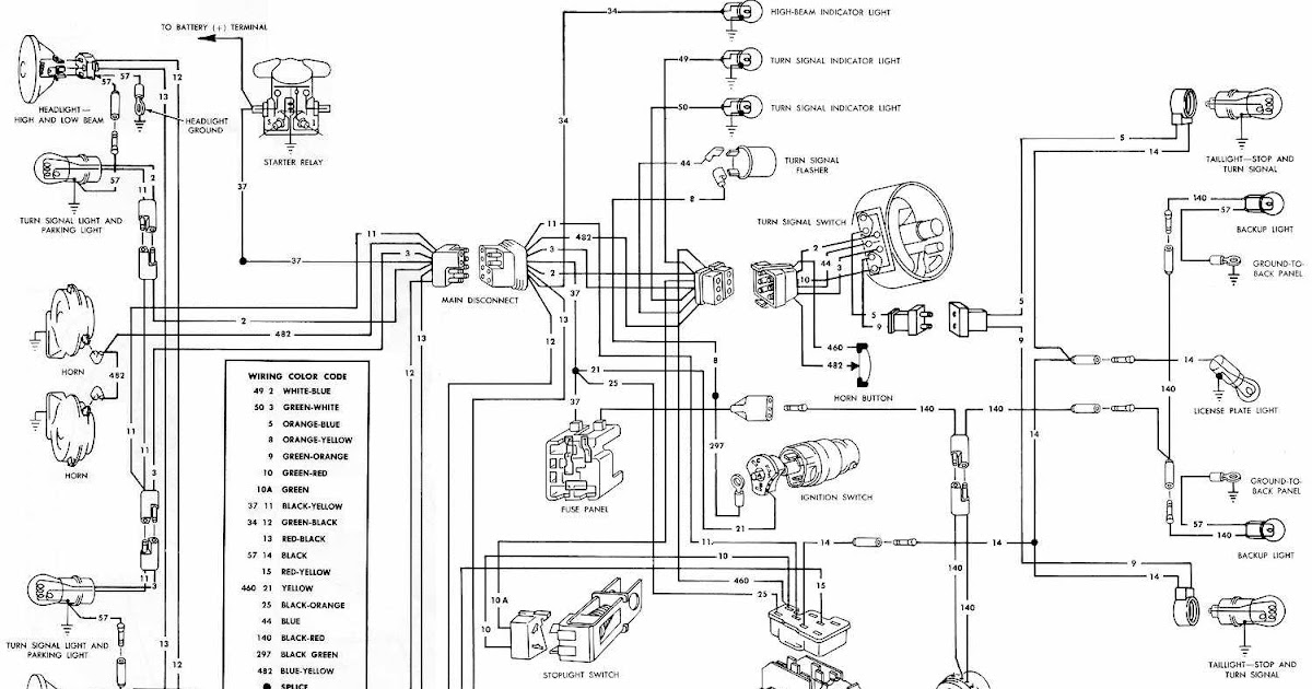 Exterior Light, Turn Signals, And Horns Wiring Diagrams Of 1966 Ford Mustang | All about Wiring