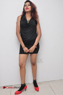Model Sonia Pictures in Black Dress at Yes Mart Event  0035