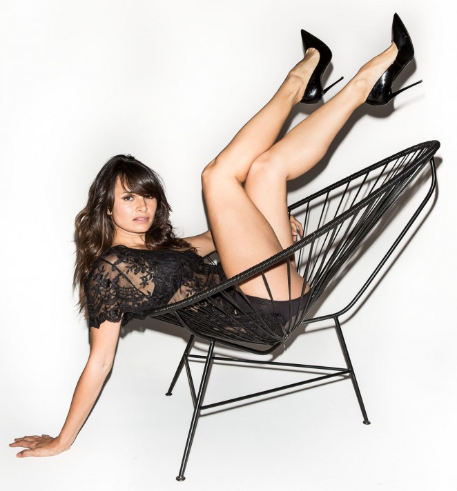 Mia Maestro bares skin for Esquire September 2015