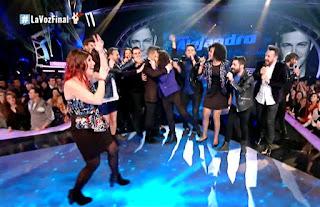 Equipo Alejandro canta No es lo mismo Final La Voz 2016