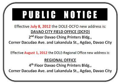 Dole Davao Del Norte Dole Davao Region And Dcfo New Office Address