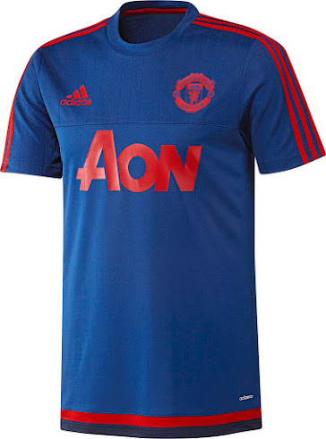 e9b572286 Adidas Manchester United 15-16 Training Shirts Released - Footy ...