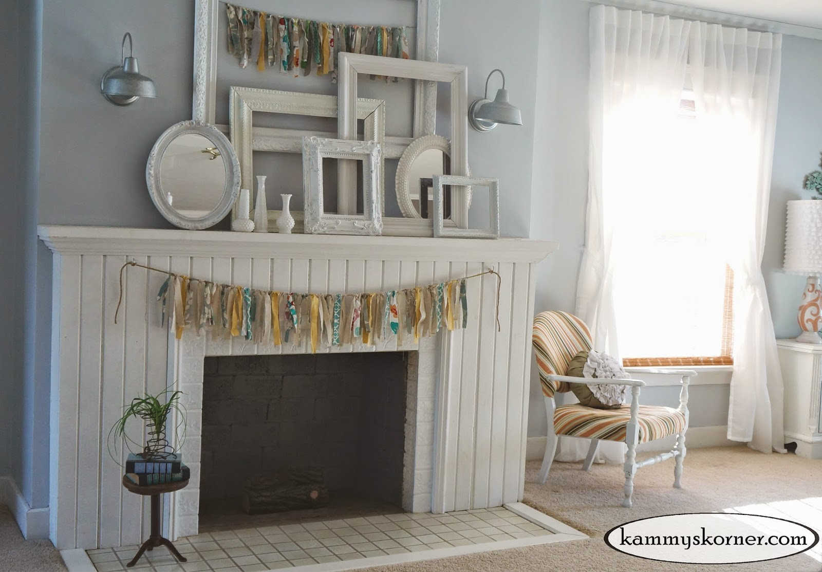 Kammy's Korner: Fireplace #3 All Shabby Chic {Master Bedroom}