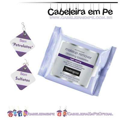 Lenços Demaquilantes Night Calming - Neutrogena (sem sulfatos e petrolatos)