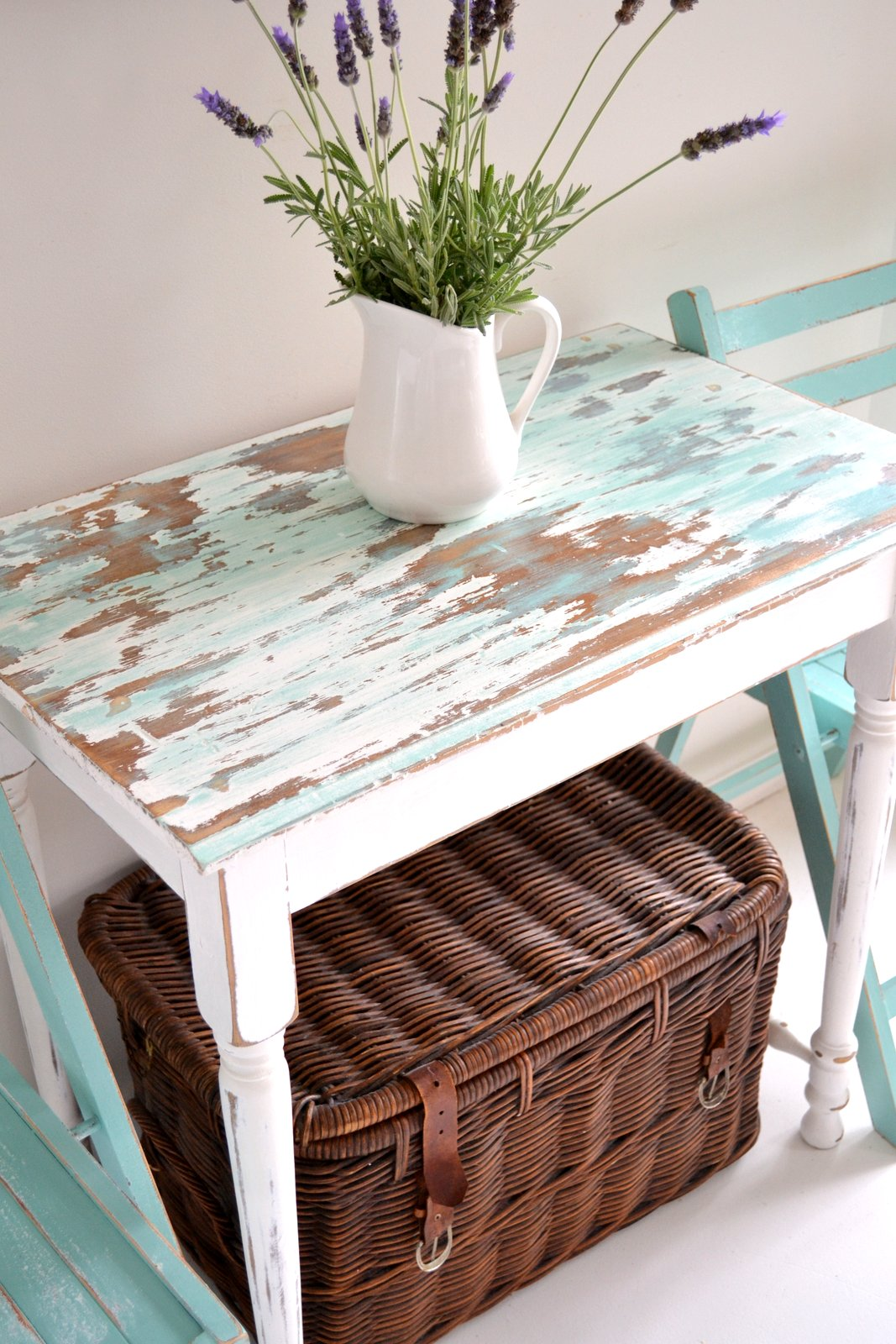Beachy Side Table And Garden Chairs Paint Me White