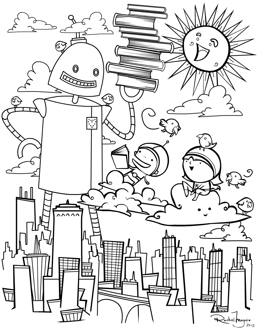 wordgirl coloring pages | ray's art blog: Make a Wish - WordGirl Color book