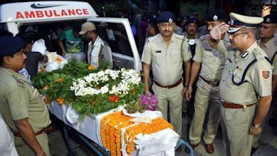 Last respect to sub-inspector Amitabha Malik