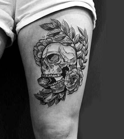 erkek üst bacak dövme modelleri man thigh tattoos 11