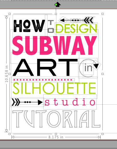 silhouette studio subway art, silhouette studio tutorials, silhouette studio design, subway art tutorial