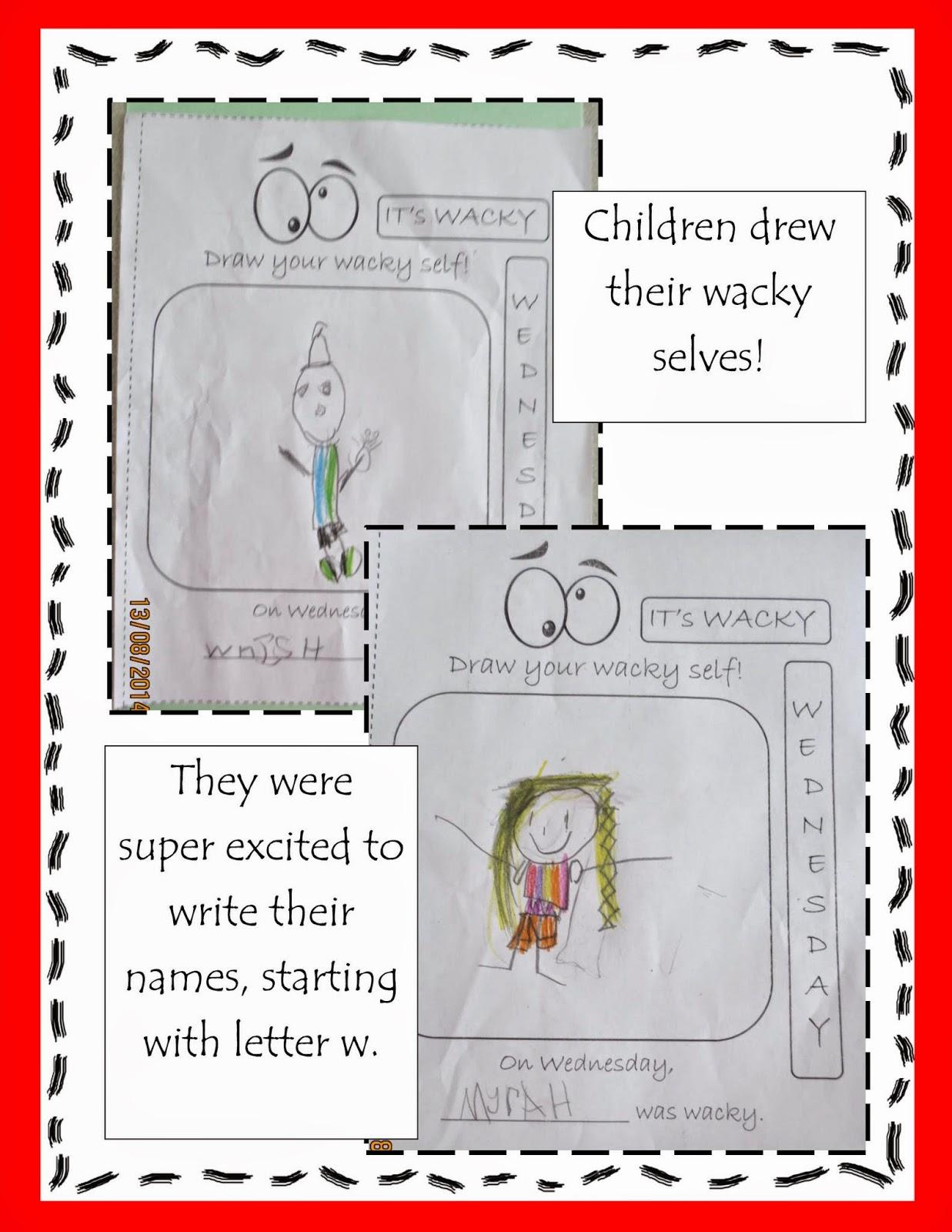 Spoonfuls Of Kindergarten Wacky Wednesday