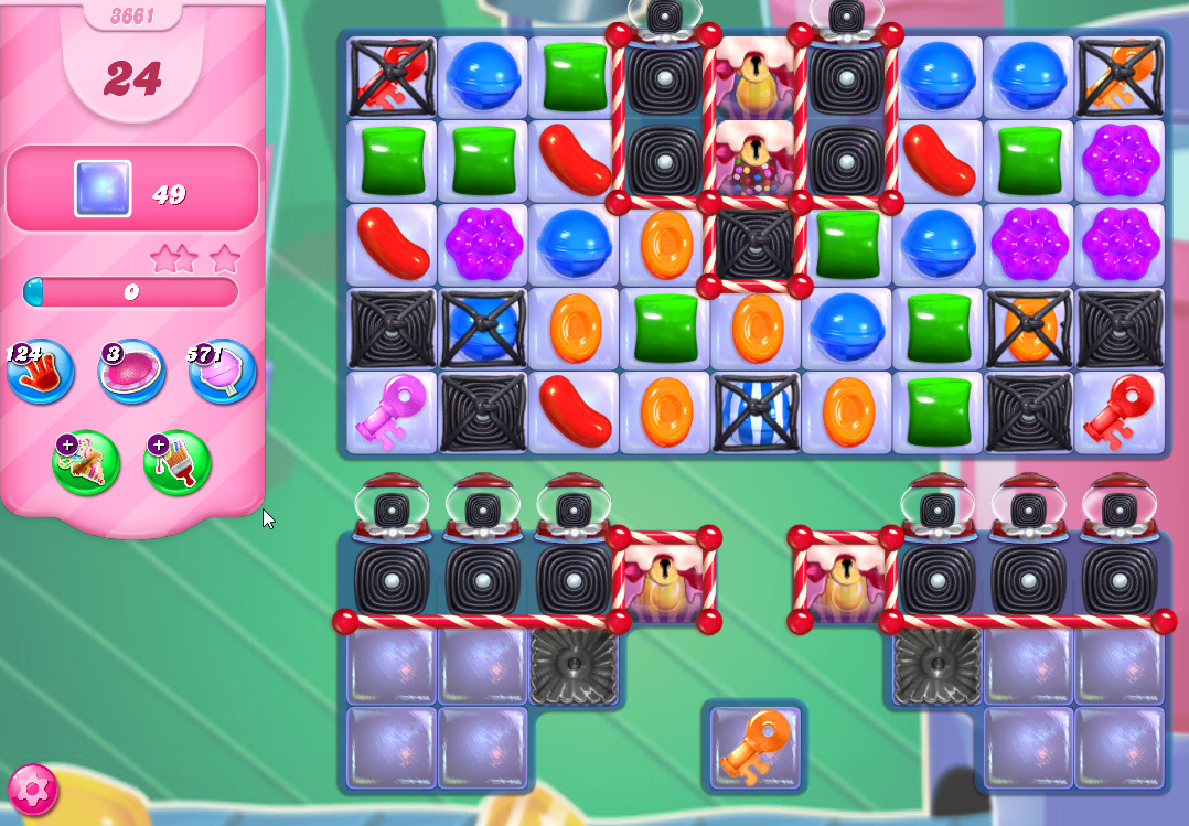 Candy Crush Saga level 3661