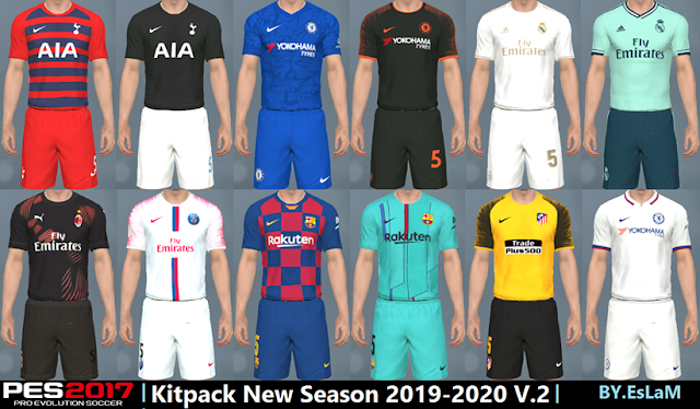 PES 2017 16 Kitpack New Season 2019-2020 ~ Game Plus Patch