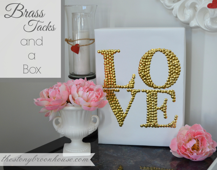 Brass Tacks LOVE Sign