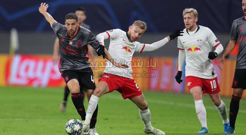 لايبزيغ يتجنب الخساره من امام فريق بنفيكا بالتعادل الاجابي في دوري أبطال أوروبا