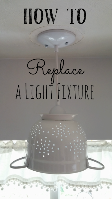 It's easy to change a light fixture, this post will show you how!