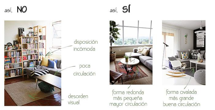 colocar muebles distribuir espacios