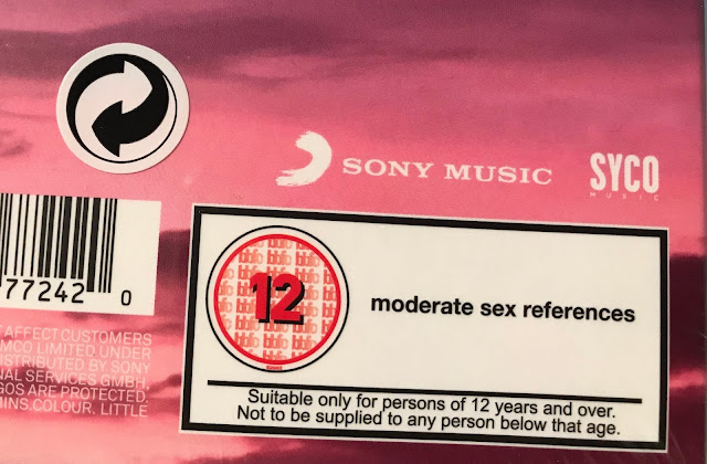 The warning label on the Little Mix CD showing a 12 and stating it is suitable for persons of 12 years and over