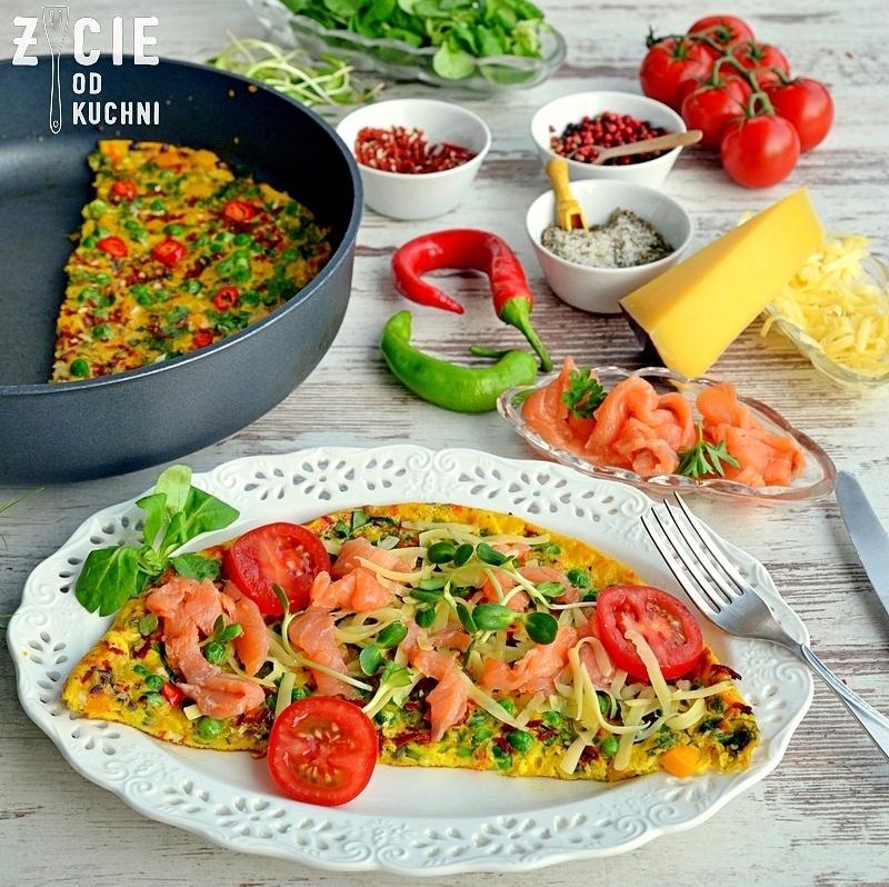 poltino, omlet, zielony groszek, jak zrobic omlet, sniadanie, kolacja, szybki obiad, zycie od kuchni