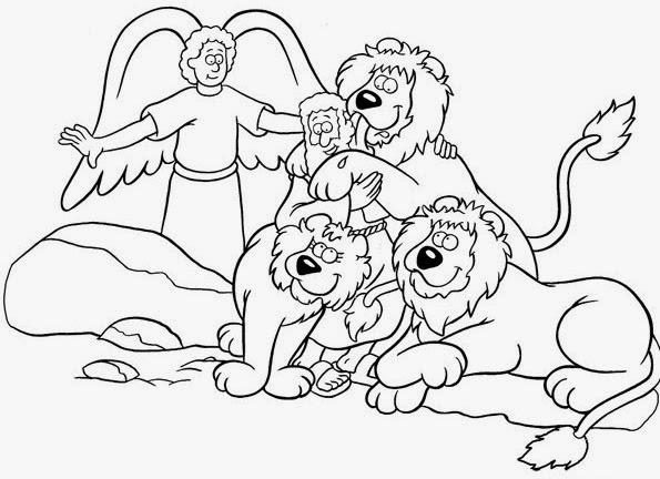 daniel and the lions den coloring pages - daniel y los leones para ni os imagui