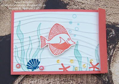 Craftyduckydoodah!, Seaside Shore, StampinUp! UK Independent  Demonstrator Susan Simpson, Supplies available 24/7 from my online store, Team Creative Challenge March 2017,