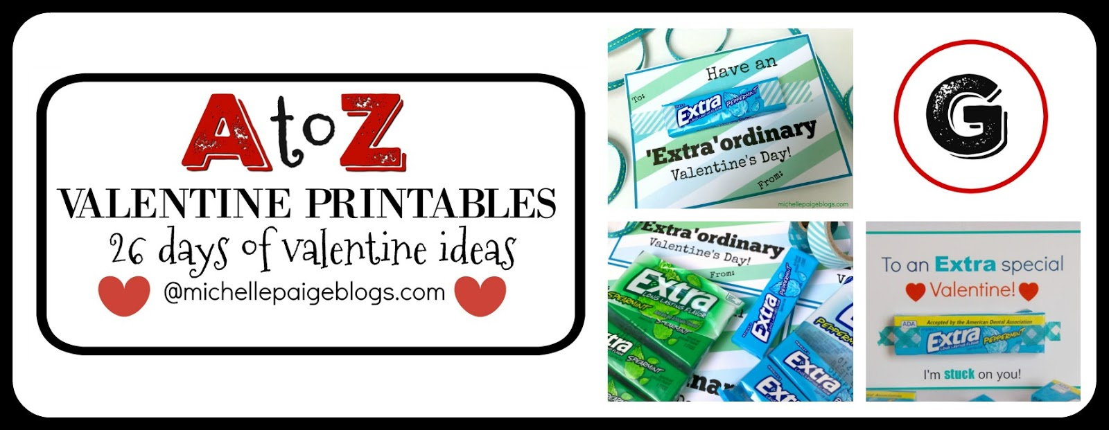 It's just a picture of Effortless Extra Gum Valentine Printable
