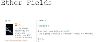 เข้าสูเวบไซต์ http://etherfields.blogspot.com/ ของเอลิซ่า แลม