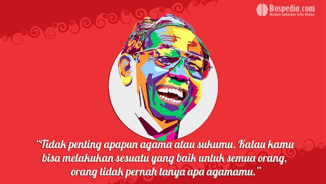 Kartu kata kata Kemerdekaan Presiden Abdurrahman Wahid (Gus Dur)