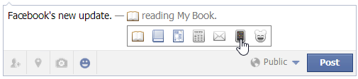 adding what you are reading on Facebook
