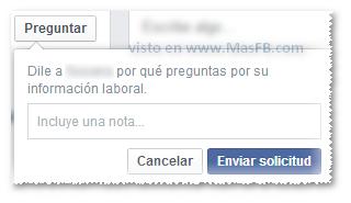 Solicitar info a perfil en Facebook - MasFB