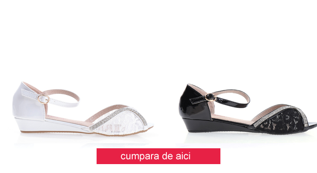 Sandale lacuite ieftine elegante lejere negre, albe, bej