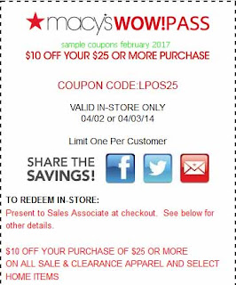 Macy's coupons for february 2017
