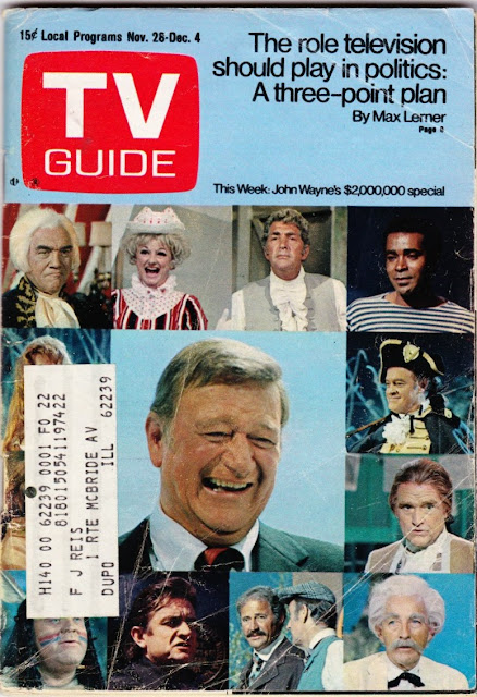 Garage Sale Finds: 1970 TV Guide - John Wayne | Craigslist ...